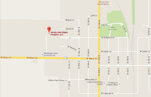 Map to Smoky Lake Headquarters