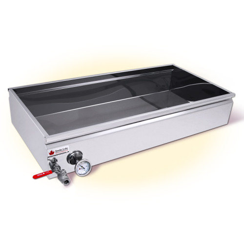 2x4 Flat Pan with Valve and Optional Thermometer