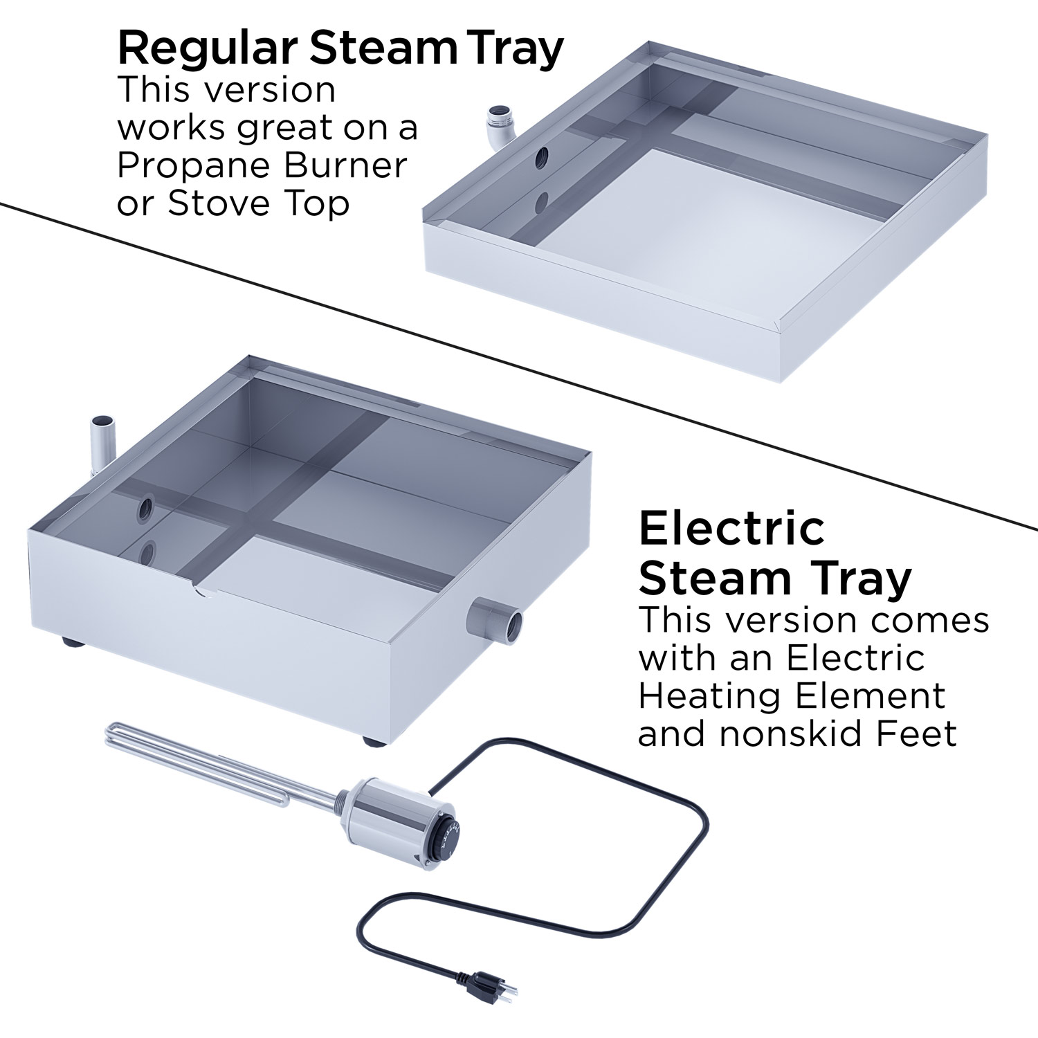 Steam Tray Options