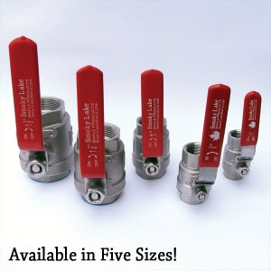 Ball Valves in Five Sizes