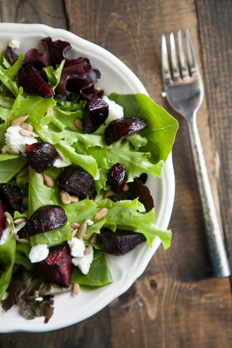 Maple-Roasted Beet and Goat Cheese Salad