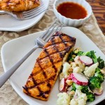 Grilled Salmon with Maple Lime Glaze