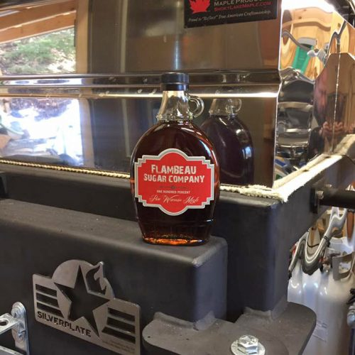 Maple Syrup by Flambeau made on a Silverplate Evaporator