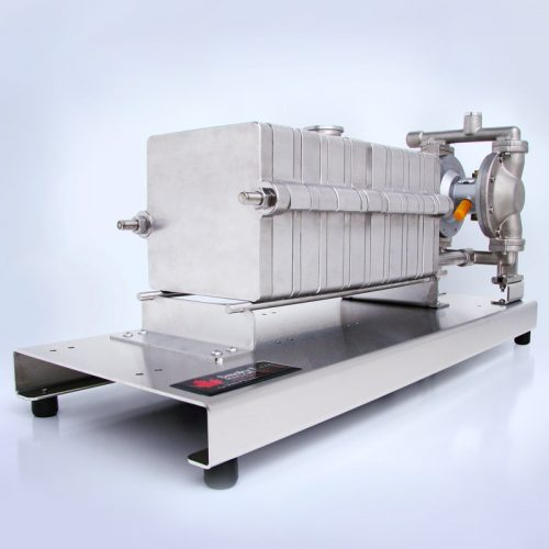 Filter Press with Long Platform, Thermometer and Air Diaphragm Pump