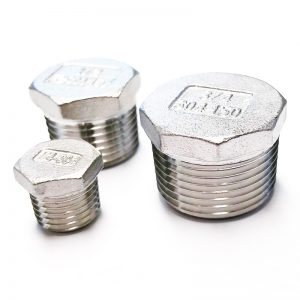 Stainless Steel Hex Plugs — Various Sizes