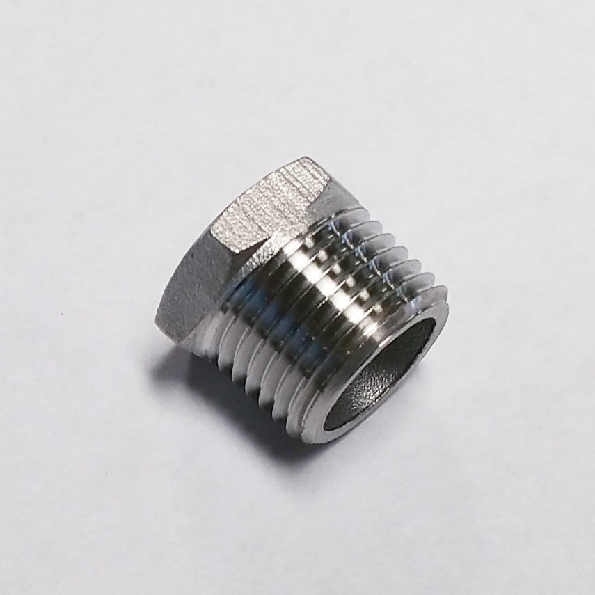 "Stainless Steel Hex Plug – 1/2"" NPT"