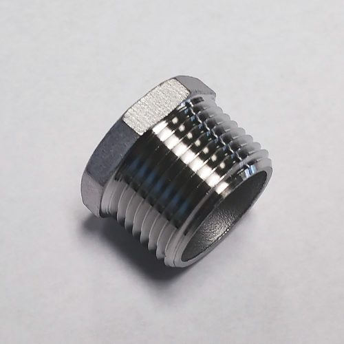 "Stainless Steel Hex Plug – 3/4"" NPT"