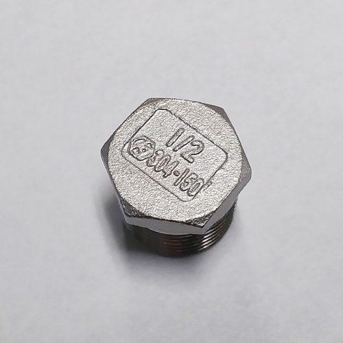"Stainless Steel Hex Plug – 1/2"" NPT"