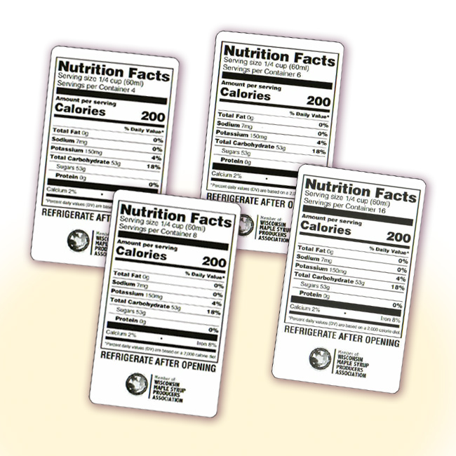 Nutrition Facts Stickers