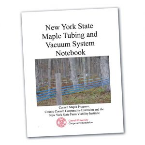 New York State Maple Tubing and Vacuum System Notebook