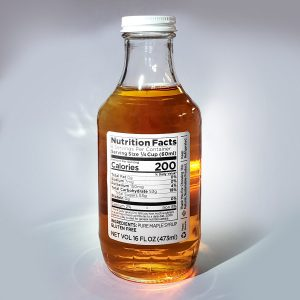 Information Panel on 16 oz Bottle