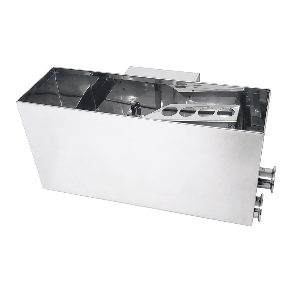 Transfer Float Box for Raised Flue Pan Set with Standard Configuration