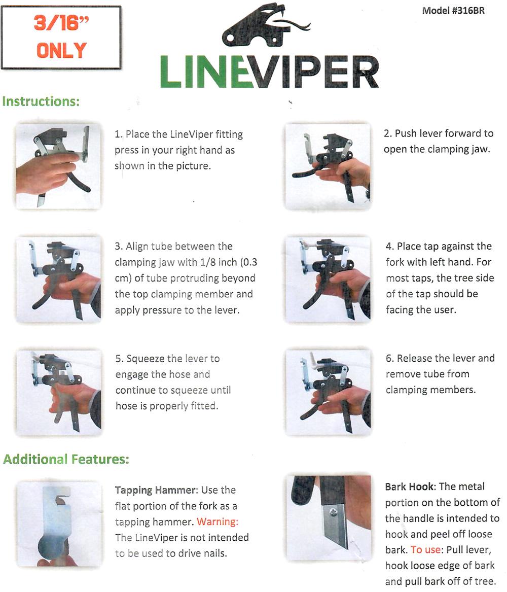 "LineViper Instructions for 3/16"" Model 316BR"