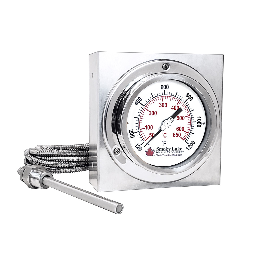 """Stack Temperature Thermometer with Mount - 4"""" Dial"""